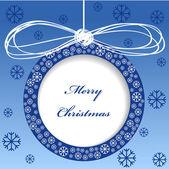 Vektorové veselé vánoční přání design s míčky — Stock vektor