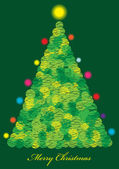Color vector christmas tree background — Stock Vector