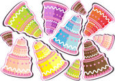 Set of  birthday cupcakes — 图库矢量图片