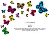 Color vector butterflies background — Stock Vector