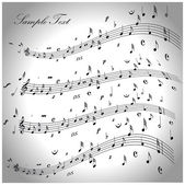 Vector music notes background — Stock Vector