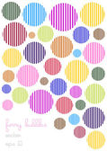 Funny vector background with colorful linen bubbles — Stock Vector