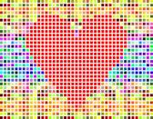 Serce valentine wektor nowoczesne wykonane z czerwonej pikseli — Wektor stockowy