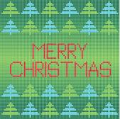 Modern color mosaic merry christmas vector background — Vecteur