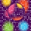 Stock Vector: Color disco ball