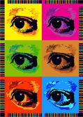 Pop art eyes illustration — Stock Vector
