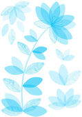 Color vector background with romantic flowers — Stockvektor