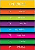 Modern vector calendar page layout — Stock Vector