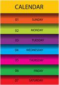 Modern vector calendar page layout — ストックベクタ
