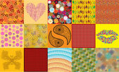 Color vector vintage patchwork design — Stock Vector