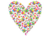 Vector valentine heart made of flowers — Stok Vektör