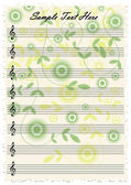 Romantic vintage music notes — Stock Vector