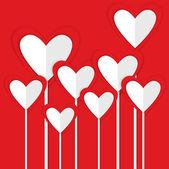 Paper vector valentine hearts — Stock Vector