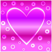 Neon valentine heart — Stockvector