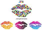 Color vector pop art kiss — Stock Vector