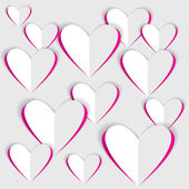 цвет вектора оригами бумаги сердца — Cтоковый вектор