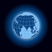 Bright world globe icon — Stock Vector