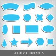 Set of blue retro labels — Stock Vector #50915197
