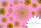 Abstract vector flowers background — Vetor de Stock