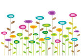 Color vector flowers background — Stock Vector