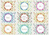 Conjunto de tarjetas vintage románticas con flores — Vector de stock