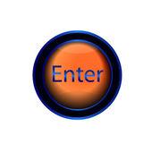 Glossy   enter button — Stock Vector