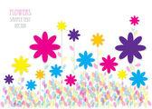 εικονογράφηση φορέας χρώμα των λουλουδιών — Διανυσματικό Αρχείο