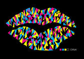 Abstract pop art lips — Stock Vector