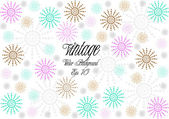 Vintage vector flowers background — Stockvector