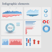Infografiken satz — Stockvektor