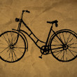 Stock Photo: Paper craft texture, bicycle