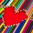 Heart, color pencils — Stock Photo #23757521