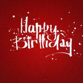 Happy birthday hand lettering — Stock Photo