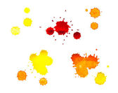 Watercolor, yellow and red blots — Stock Photo