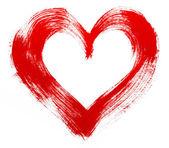 Red heart love. Art oil(acryl) paints. — Stock Photo