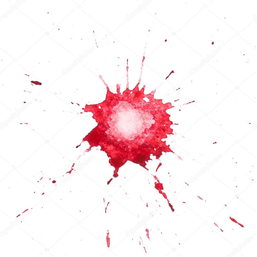 Tache rouge de peinture aquarelle — Photographie undrey © #23756727