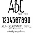 Vector de stock : Abc, numbers