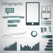 Set elements of infographics - Imagen vectorial
