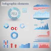 Infographic iş öğeleri — Stok Vektör