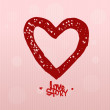 Love story, heart - Stock Vector