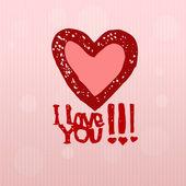 I love You, heart — Stock Vector
