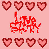 Herzen. liebe — Stockvektor
