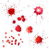Red blots of watercolor paint — Stock Photo