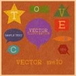 Multicolored speech bubbles — Stock Vector #28950301