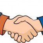 Handshake, Hands, business illustration — Stock Vector #29292369