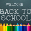 Back to school. color pencils — Stock Photo