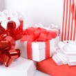 Gift boxes with xmas presents — Stock Photo