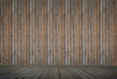 Wooden floor and concrete wall background textured — Stock Photo