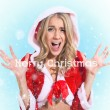 Happy smiling woman in santa claus clothes. Concept - winter, christmas, x-mas, new year — Stock Photo #36226727
