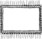 Hand-drawn doodle frame — Stock Vector